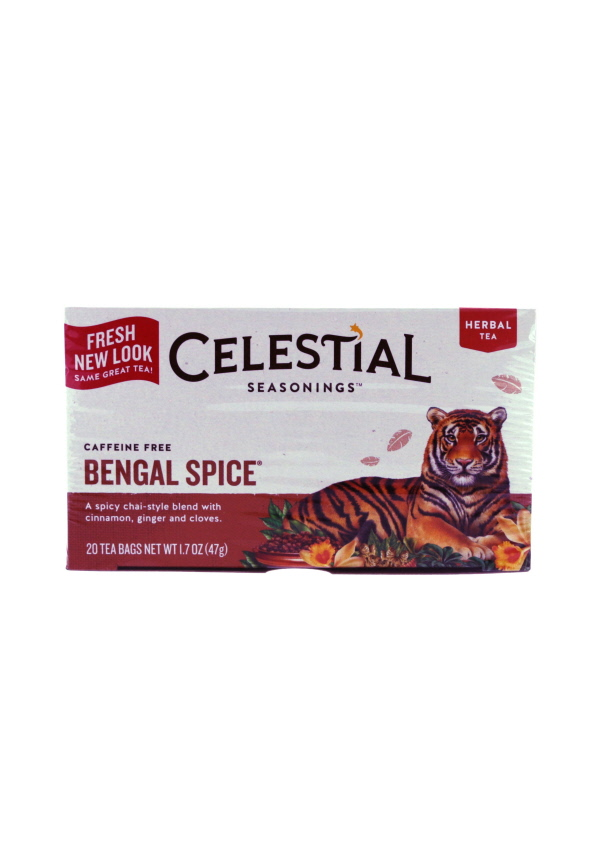 Bengal Spice ,Celestial Seasonings, Bengal Spice, caffeine free tea, chai tea, all natural tea