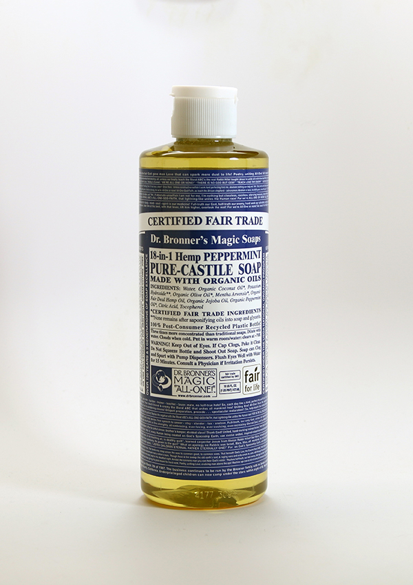Castile Peppermint Soap ,Organic soap, body wash, liquid soap