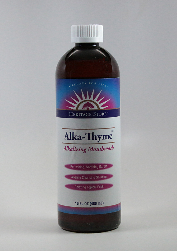 Alka Thyme Mouthwash ,The Heritage Store, Alka Thyme, Alka_Thyme, Mouthwash, Alka Thyme Mounthwash, oral care, dental hygiene, dentures, bad breath, eliminates morning breath