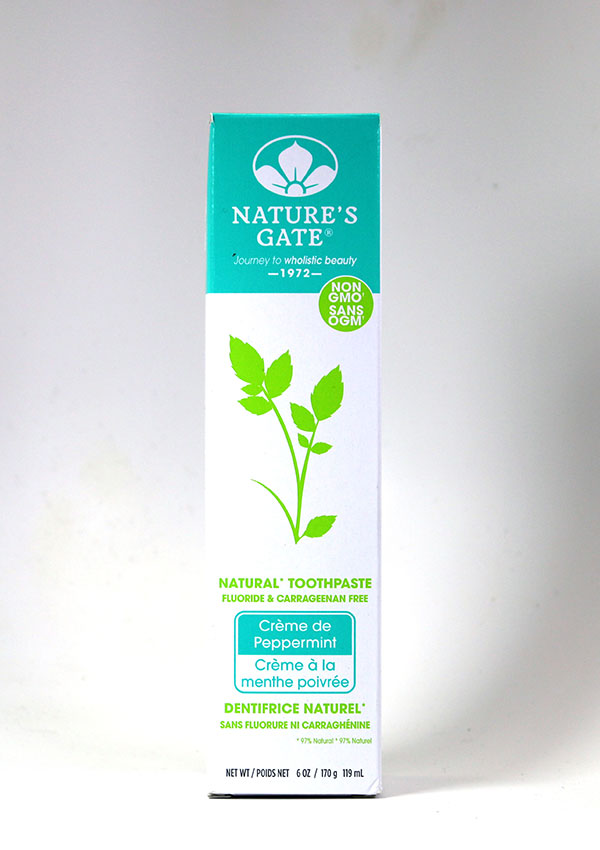 Natures Gate ,Natures Gate, Toothpaste, mint, Creme de Peppermint, fluoride free, dental health, teeth, teeth whitening, oral health