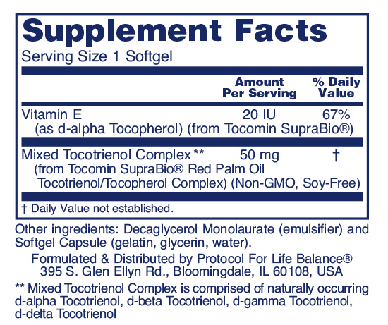 Red Palm Tocotrienols ingredients