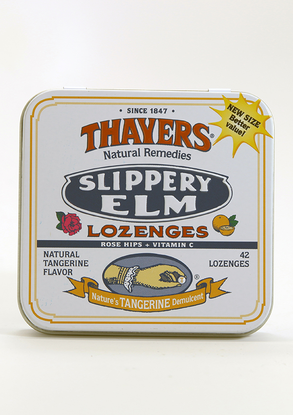 Thayers Slippery Elm Lozenges ,Sore Throat, cough drops, throat lozenges, Thayers, Thayers Slippery elm,