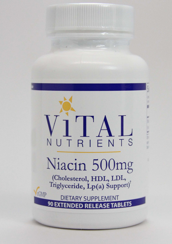 Vital Nutrients ,Vital Nutrients, Niacin, Niacin extended release, cholesterol, HDL, LDL, Triglyceride, LP(A) support,lipid metabolism