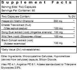 Meta Balance Supplement Facts