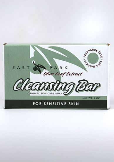 East Park Research ,East Park, Olive leaf, cleansing bar, moisturizes skin, psoriasis, eczema, anti bacterial, pH-balanced, dry skin, skin infections