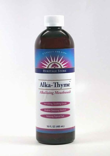 Alka Thyme, The Heritage Store, Mouthwash,  oral care, dental hygiene, dentures, bad breath, eliminates morning breath
