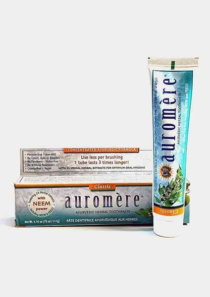 Auromère, Ayurvedic Toothpaste, mint, fluoride free, dental health, teeth, oral health