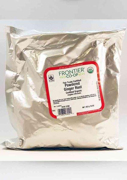 Ginger Root Organic Ground 1 lb bag ,Ginger Root, Organic Ground 1 LB. bag Frontier, digestion, ease stomach discomfort, gastrointestinal