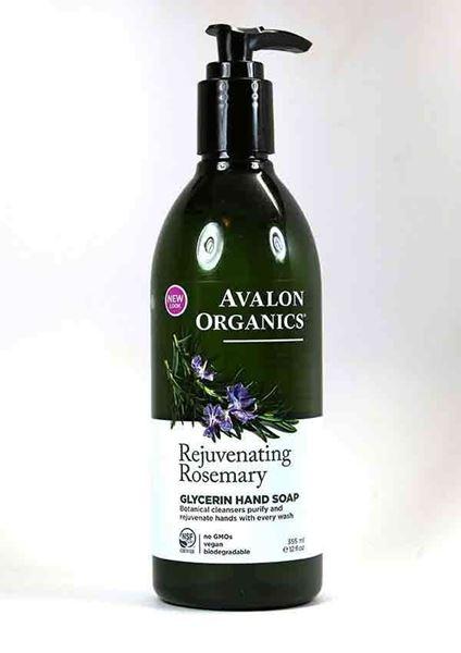 Rejuvenate dry hands, Organic Liquid Hand Soap, Gentle cleansing, Avalon Organics, Rosemary Essential Oil, Aloe and Vitamin E