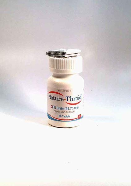 Nature Throid 3/4 grain, hypothyroidism, T4, T3, hormone replacement, Synthetic hormones, hypothyroid, thyroxine, triiodothyronine, thyroid, thyroid regulation, underactive thyroid, thyroid hormones