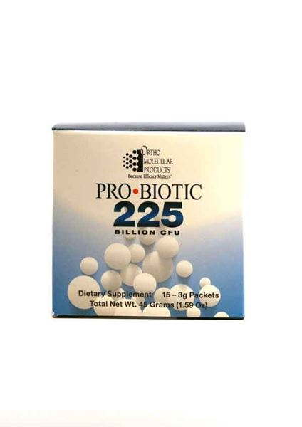Ortho Molecular Products, PRObiotic 225, probiotic, GI health, gastrointestinal, immune function, immunity, microflora balance