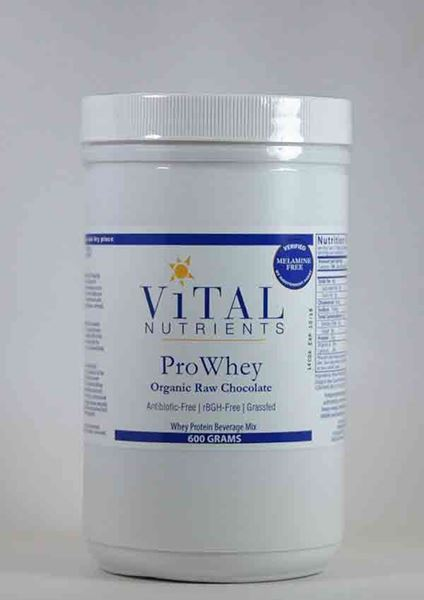 Vital Nutrients, Whey protein beverage mix, protein powder, immune system, antioxidant, Vital Nutrients, Prowhey ORGANIC RAW chocolate