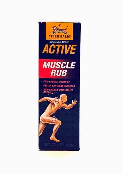 HawPar, Tiger Balm, Muscle rub, analgesic cream, sports rub, back pain, muscle strain, exercise, stiffness, aching muscles