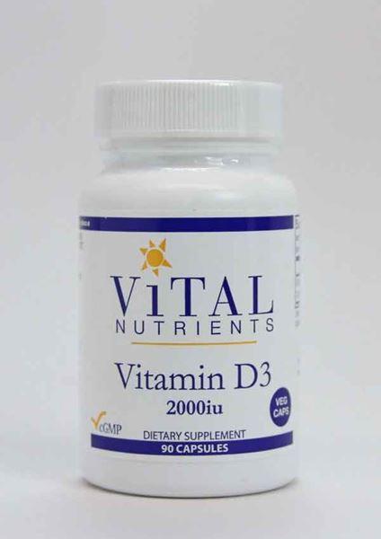 Vital Nutrients, Vitamin D3 2000iu, bone health, colon health