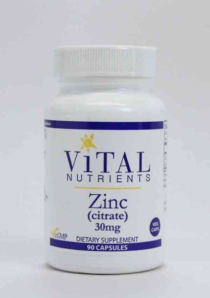 Vital Nutrients, Zinc, citrate, zinc citrate, immunity, healthy immune function