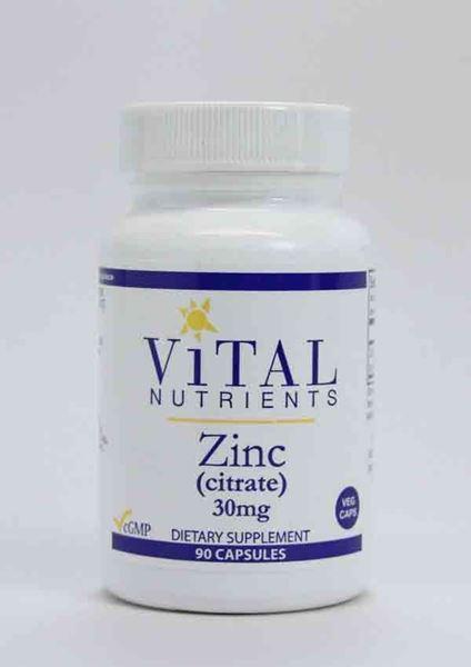 Vital Nutrients, Zinc, citrate, zinc citrate, immunity, healthy immune function