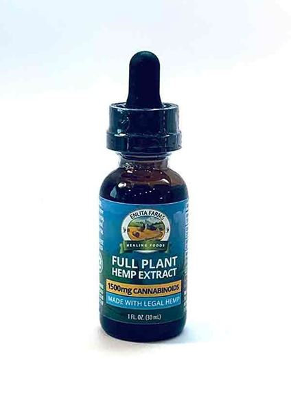 CBD Oil 1500mg, Hemp Oil Extracts, Enlita Farms, non-psychoactive, antioxidant, anti-inflammatory, anticonvulsant, antipsychotic, neuroprotective, helps nausea